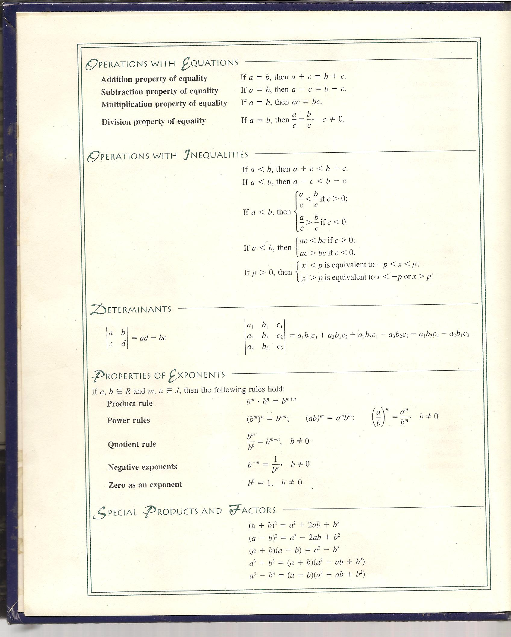 Math References
