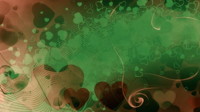 FOOTAGE HEARTS GREEN BACKGROUND — Full HD 1080p