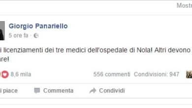 Photo of Ospedale Nola – Anche Panariello a sostegno dei medici