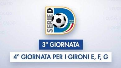 Photo of Serie D – I match della terza giornata di campionato