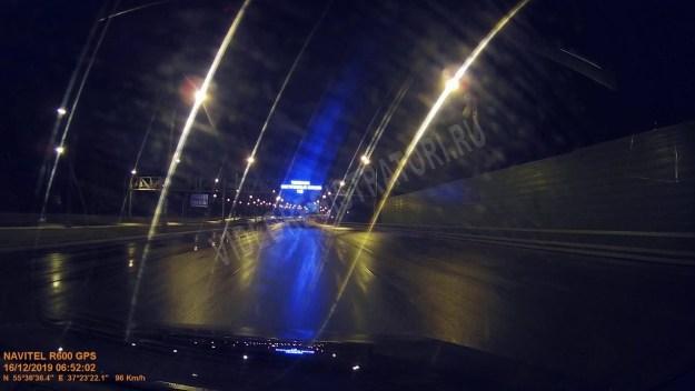 Ночная съемка NAVITEL R600