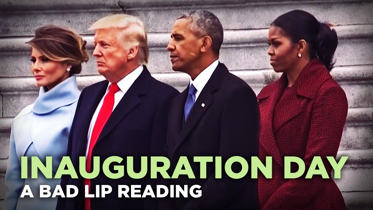 INAUGURATION DAY  – A Bad Lip Reading of Donald Trump's Inauguration
