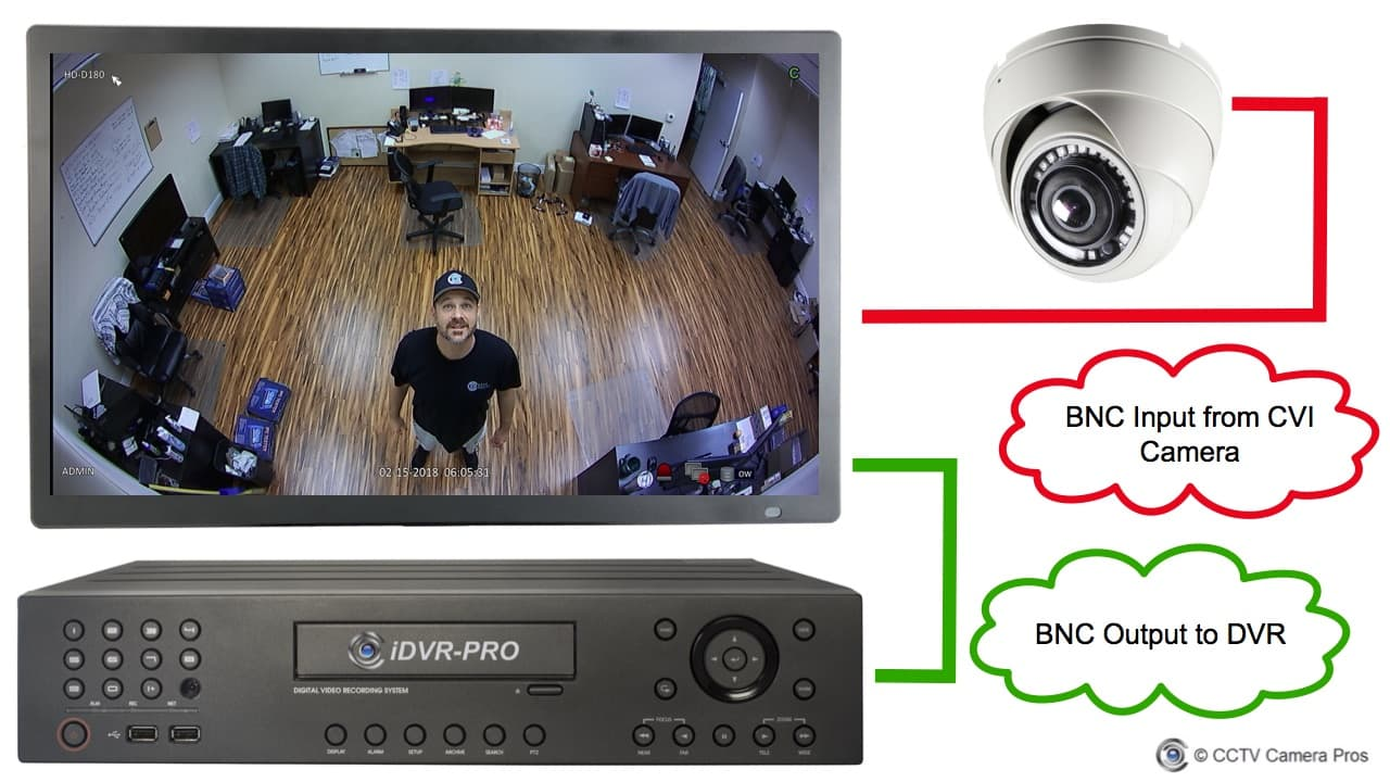 hight resolution of cvi monitor with bnc input