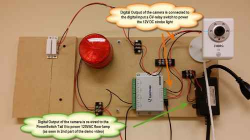 small resolution of ip camera digital in out wiring