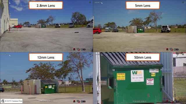 acheter caméra de surveillance focale distance
