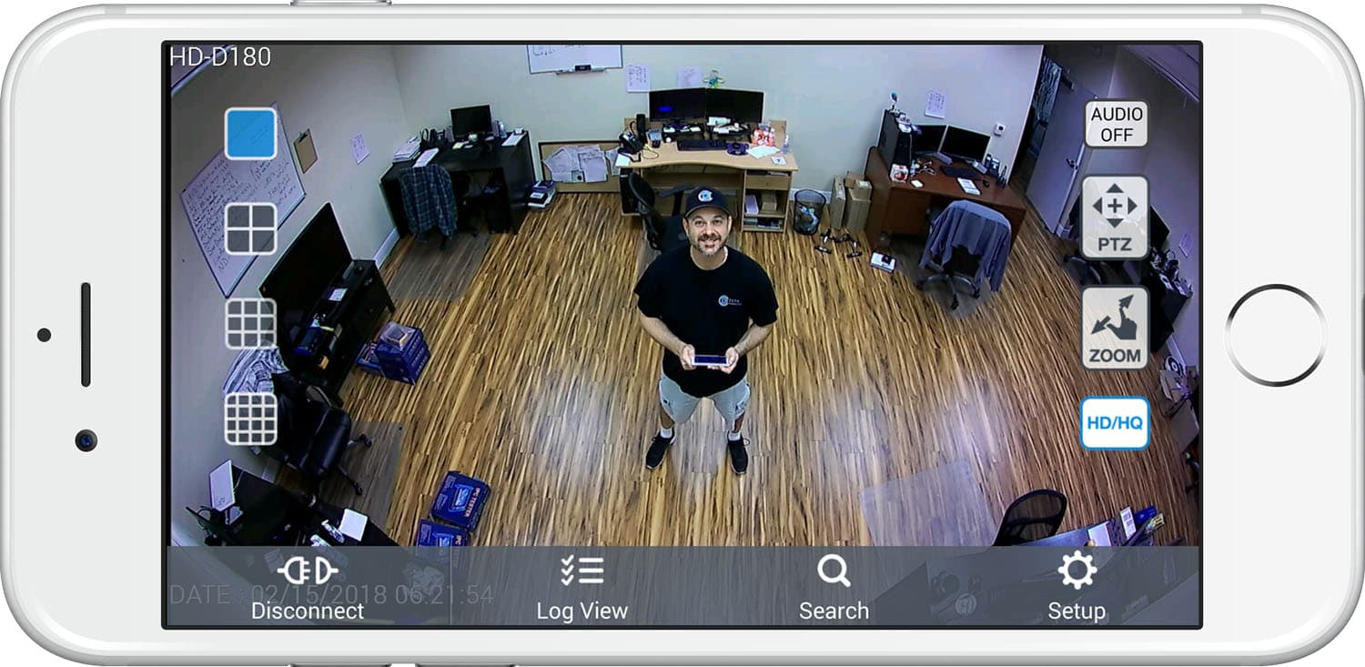 hight resolution of security camera view iphone