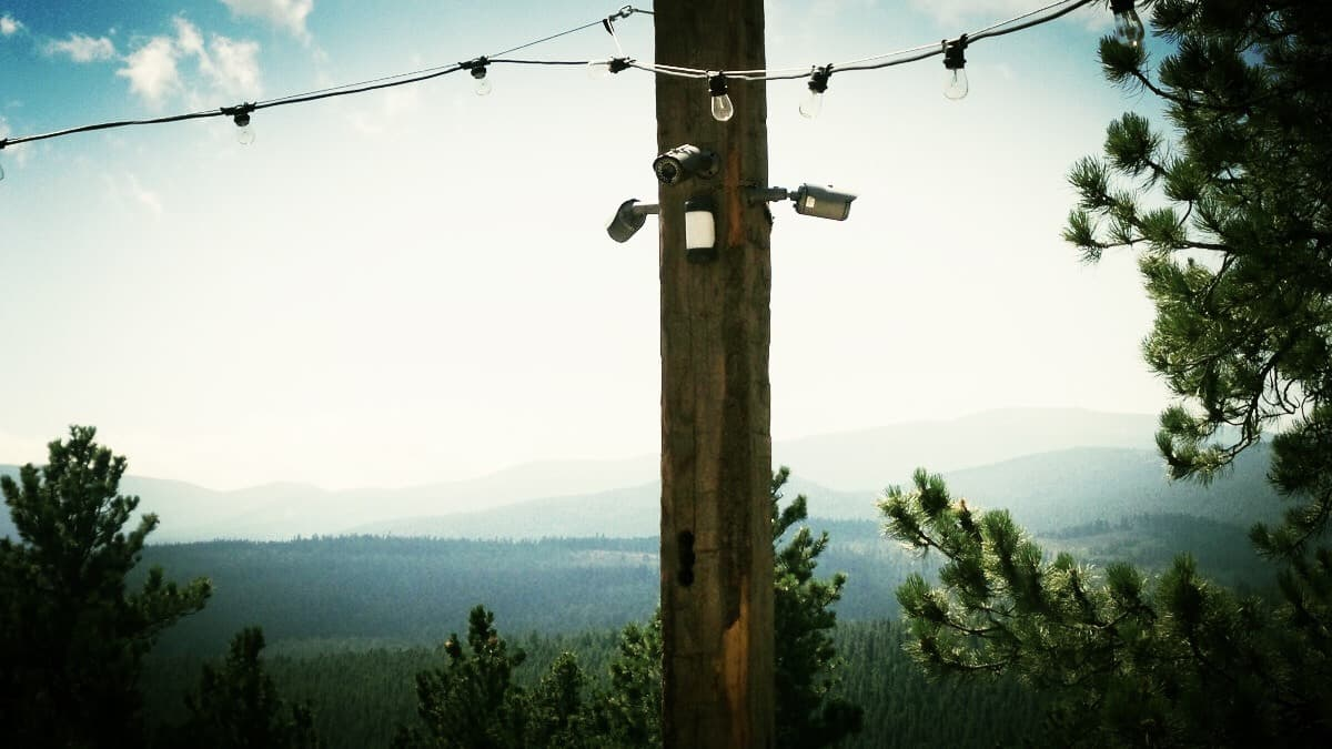 hight resolution of video surveillance system with outdoor pir motion sensor integration