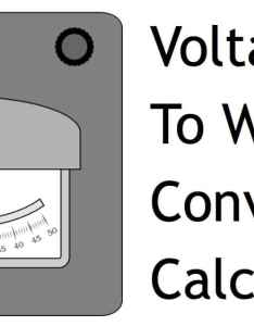Voltage to watts conversion calculator also volts amps rh videostvcamerapros