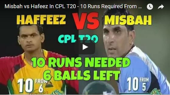hafeez vs Misbah in CPL