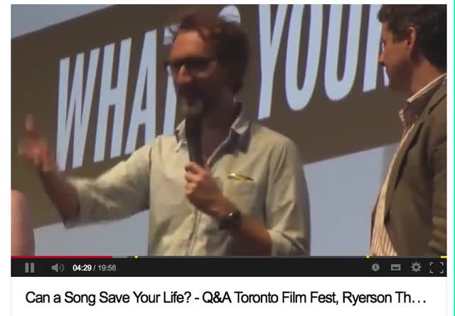 Can a Song Save Your Life from set to TIFF Sept 2013