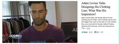 Adam Levine talks designing his clothing line