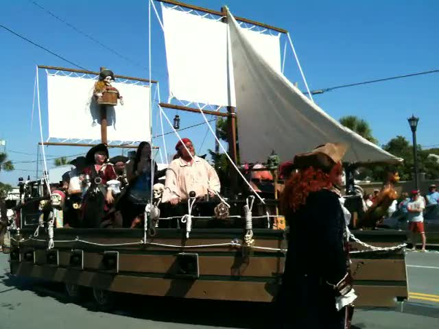 Tybee Island Pirate Fest 2010: Pirates Singing About Beer