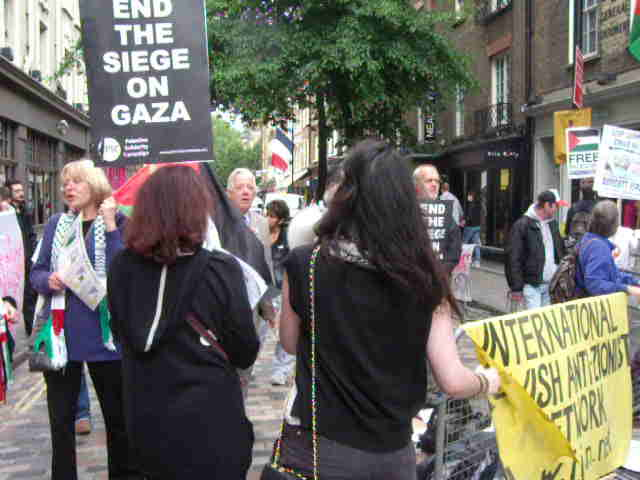 Outside Ahava, 19th June.