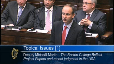 Topical Issues Debate 10 July 2012 – Boston College Belfast Project Papers
