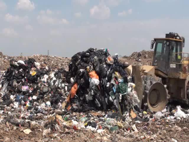 Captain Crush at the Halton Waste Management Site