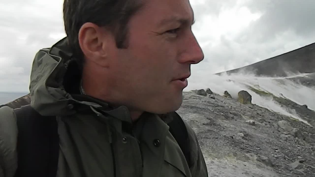 Andreas Moser on Vulcano