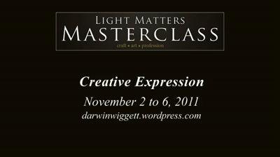 Light Matters Masterclass 2011