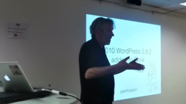 WordPress For Weans – John Johnston at London Big Media & Enterprise Meetup