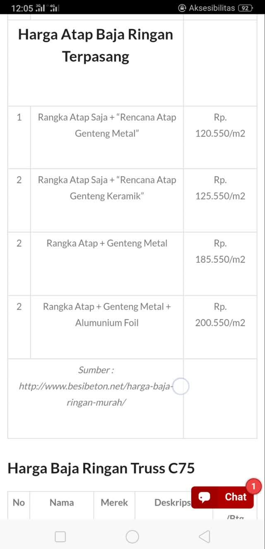 harga cnp baja ringan 1mm daftar terbaru oktober 2018 brindonesia