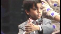 Farruquito niño en la Bienal de Flamenco de Sevilla