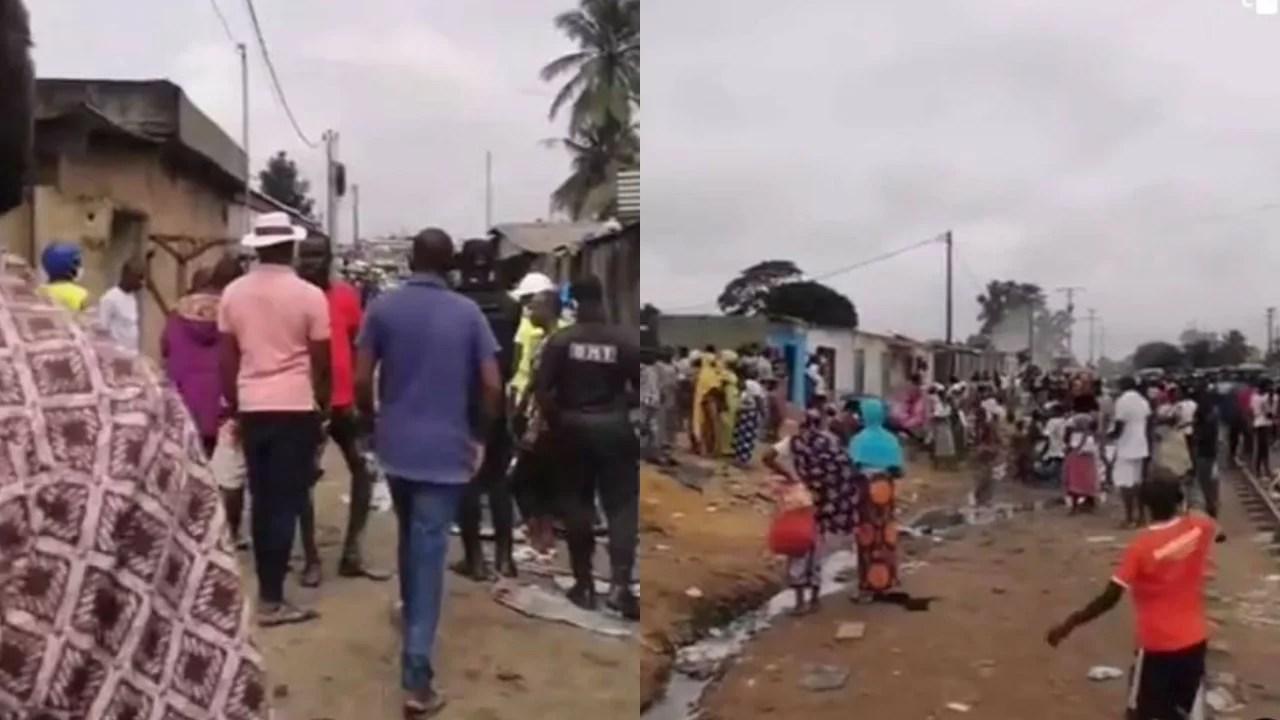 Affaire projet du métro: des dizaines d'habitations et de nombreux magasins détruits à Abobo derrière Rail