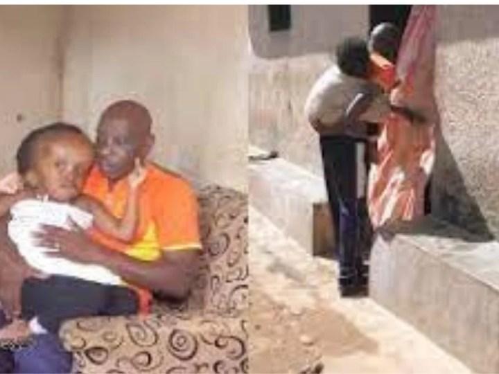Cet homme a été abandonné par sa femme et s'occupe seul de son enfant malade
