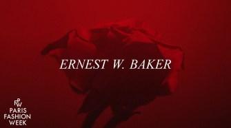Ernest W. Baker - Paris Fashion Week Autumn/Winter 2021