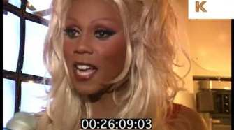 1990s RuPaul Interview on Makeup Tips, Mac Viva Glam