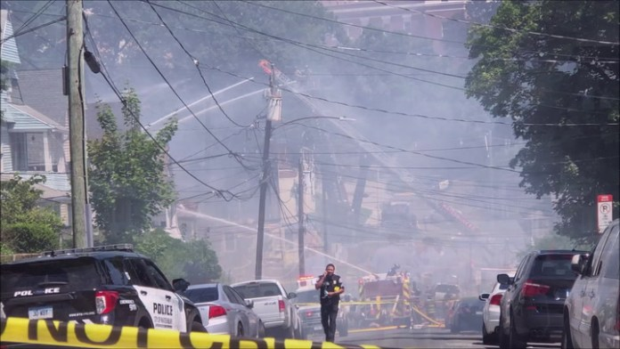 Fire at 43 Colley St. in Waterbury