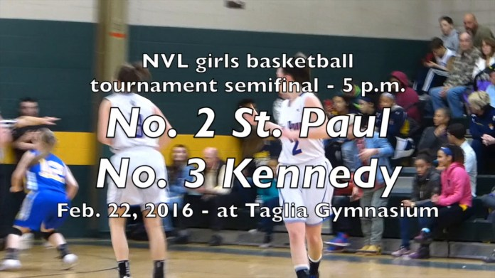 St. Paul Catholic meets Kennedy in girls semifinal - 5 p.m. at Taglia Gym