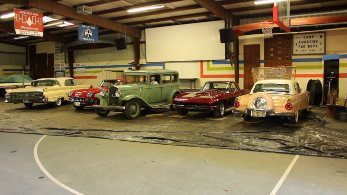 Buzz Ebner of Harwinton, CT stores of a portion of his dozen-car vintage collection in nearby Morris. The oldest is a 1931 DeSoto that he found in Pennsylvania. He's owned it since 2013.