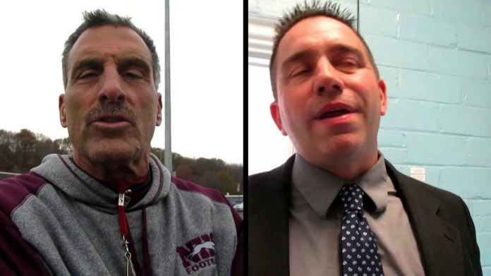 Thanksgiving football: Naugy coach Sollazzo and Ansonia coach Brockett