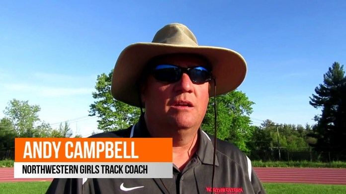 BL track championships: Northwestern coach Andy Campbell