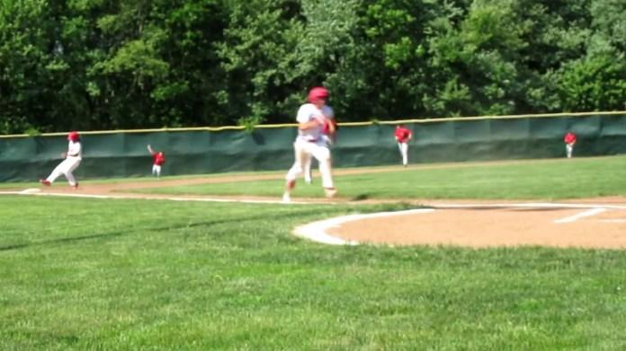 Baseball state tourney: Wolcott's Trey Nastri after win