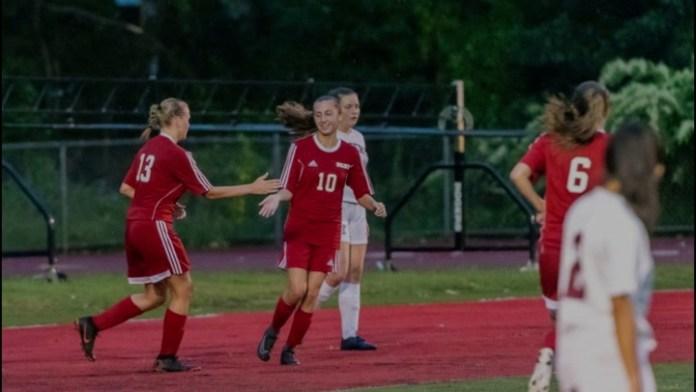 Girls soccer: Wolcott's Tracey nets 2 goals in opener