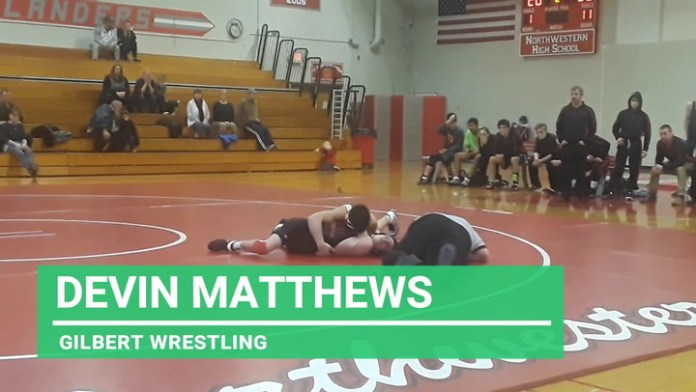 Gilbert wrestling: Devin Matthews