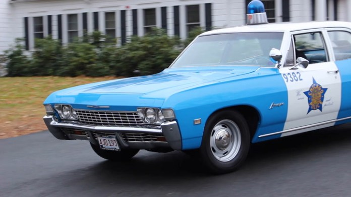 Granville (Massachusetts) Police Department Lt. Rick Rindels owns a 1968 Chevrolet Biscayne police car that used to patrol the streets of Chicago. My Ride pulls him over to talk about it.
