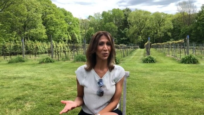 Community Karen visits Bethlehem Vineyard to get her CT Winery Passport in honor of National Wine Day!