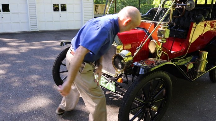 Willard Revaz of Oxford, Conn. collects Ford Model T cars. He owns five of them, including a 1912 in bright red. Operating a Model T isn't like driving a modern car. Revaz demonstrates in My Ride.
