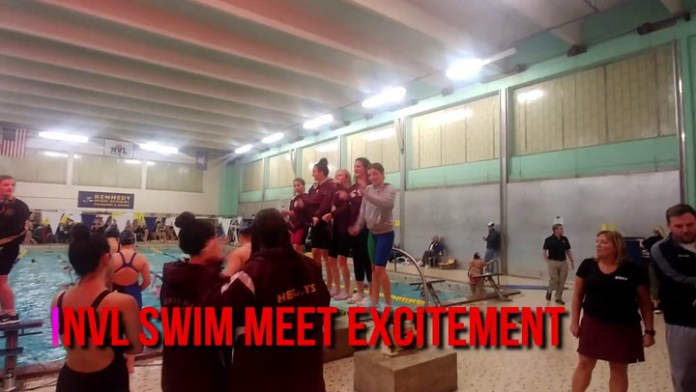 Exciting night at NVL swim championships
