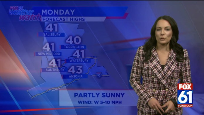Thickening clouds on Monday, getting colder