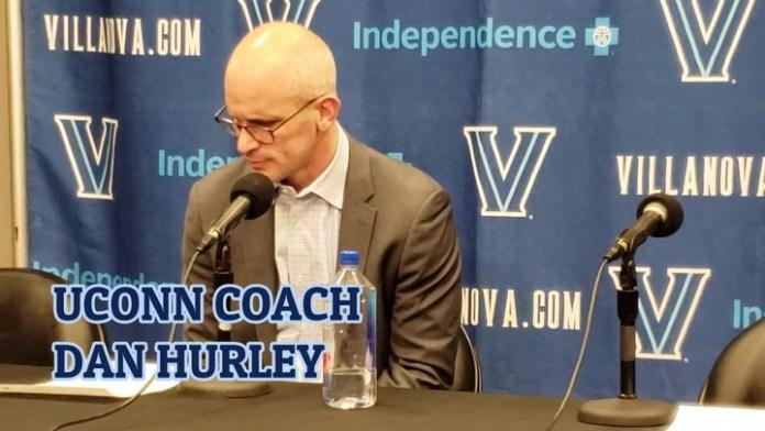 UConn coach Hurley after loss at Villanova