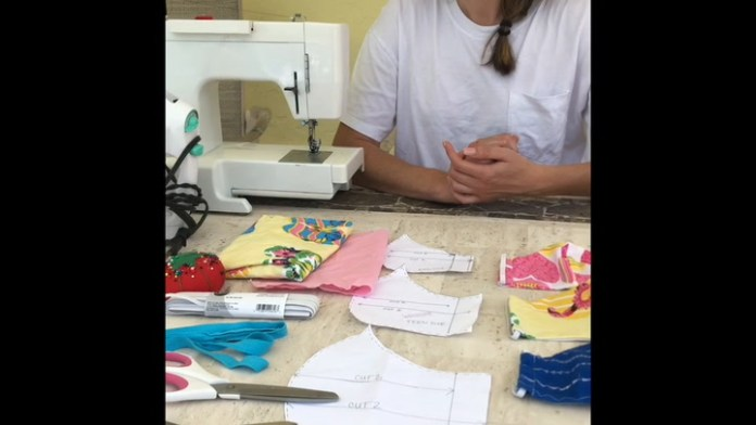 Waterbury native Jessica Proulx of Amethyst Design and Style offers a step by step method for making a face mask for protection during the COVID-19 outbreak.