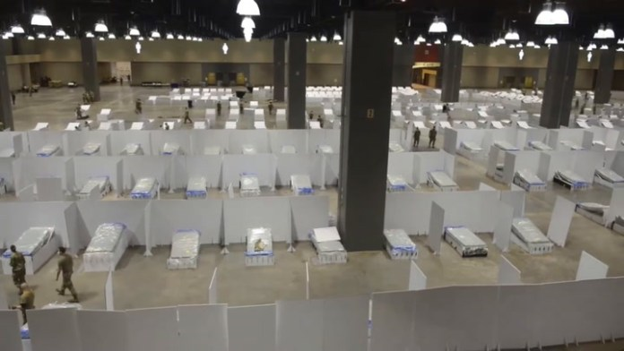 Connecticut National Guard sets up field hospital