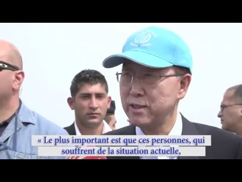Ban Ki-moon en mission humanitaire au Liban