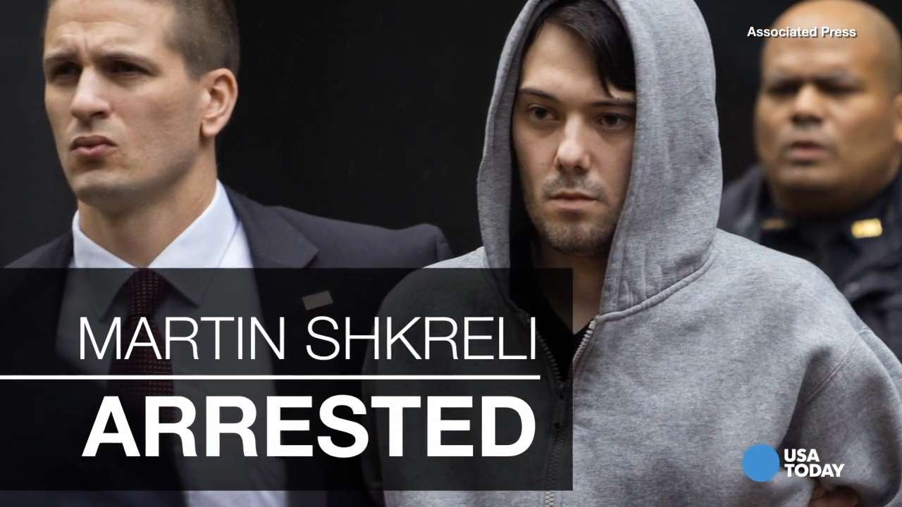 martin shkreli charged with