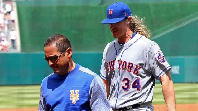 Mets' Ace Syndergaard Exits With Injury Scheduled For MRI