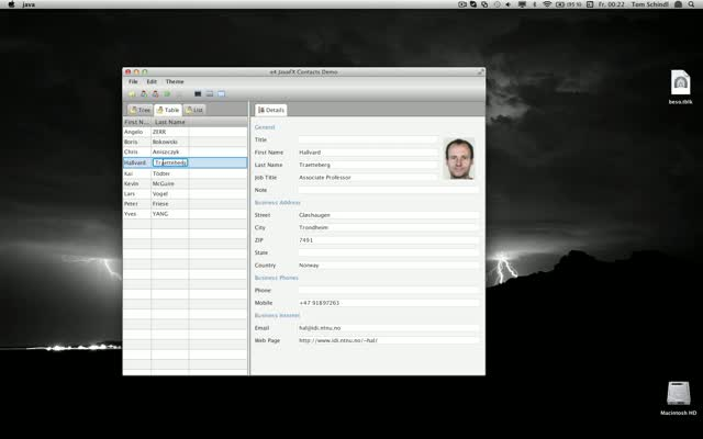 A sample application using EMF Edit for JavaFX