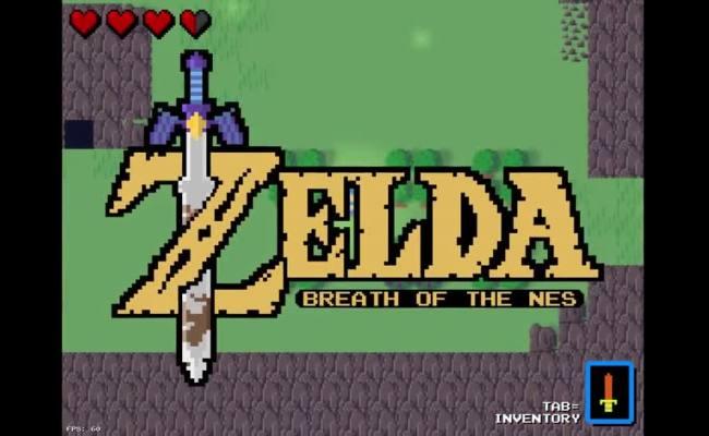 8 Bit Zelda Fan Erschafft 2d Retro Version Von Breath Of