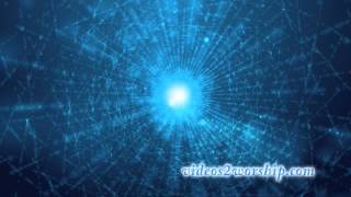 Abstract Blue Particle Motion Video